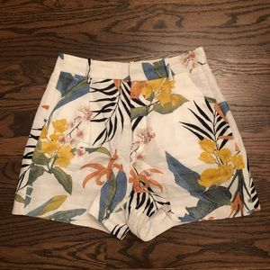 Zara tropical print shorts